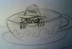 Pocket Scarecrow in a teacup by Miss-Formidophobia