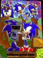 father and son jules and sonic by 4sonicfan