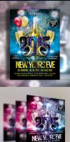 New Years Eve Flyer Template by Arrow3000Graphics