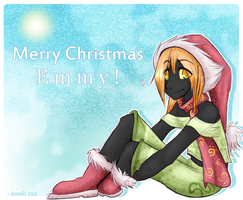 Xmas Card: Emmy by cindre