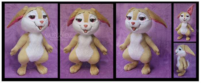 Carrot Bunny Custom Plush by Nazegoreng