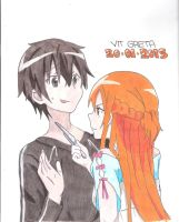 Kirito and Asuna by Jelly9614