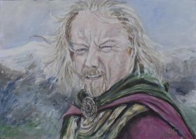theoden king by acrylicwildlife