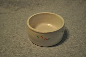 White Flower Bowl -top- by ladybug95