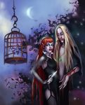 vampire couple by AnnaGabrie