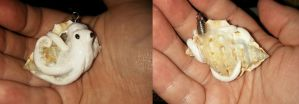 Pale Octopus Shell Charm by ShadyDarkGirl