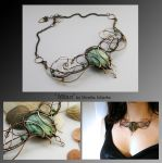 Mitan- wire wrapped necklace by mea00