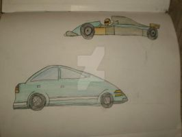 Sketch Of Two Cars by Princ3ssWolfi3
