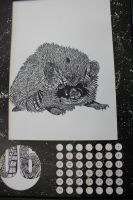 Ill-ustrated Calendar Hedgehog by CHADtheMAD