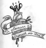 gaelic heart by madhouse-tattoos