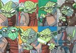 Topps Star Wars G7 - 13 Yoda by JoeHoganArt