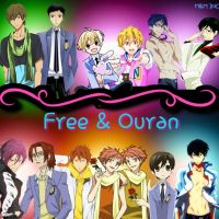 Free VS Ouran by MichelleAuroraDaisy