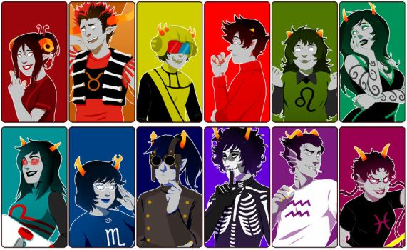 Homestuck: Beforus Trolls by PunPuniChu