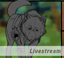 Livestreaming comic page OFFLINE by Domisea
