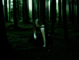 Girl in the Woods by elita141