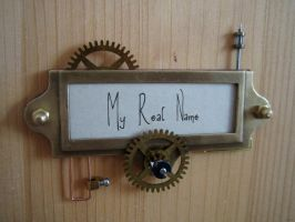Steampunk doorbell by Vanyanie
