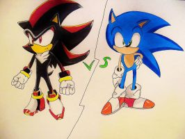 Sonic Vs Shadow by DarkGamer2011