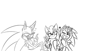 Super Duper Sonics Collage by SweetSilvy