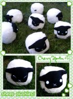 Sheep Plushies by CherryAbuku