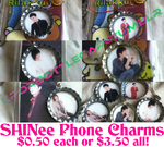 SHINee Bottle Cap Phone Charms by EmpressTerra