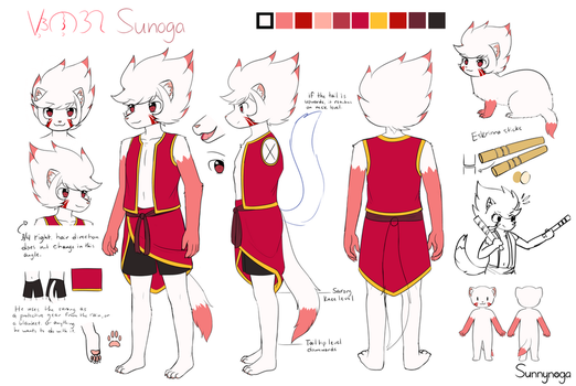 Sunoga Reference Sheet 2017 by Sunnynoga