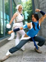 Naga and Korra by RoxannaMeta