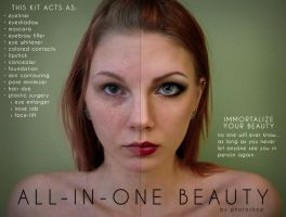 Parody Ad: All-in-One Beauty by Photoshop by nebulae-decay