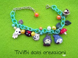 Totoro and Kodame bracelet by tivibi