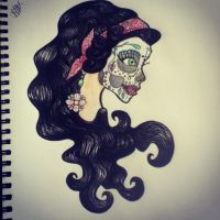 Tattoo Design - 'Day of the dead' girl by LookAliveHolly