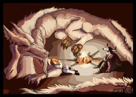 Dragon Campfire by macawnivore