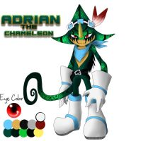 Adrian The Chameleon Ref by TurquoiseWolfStar7