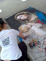 Madonna in process by AmazingStreetPaint