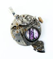 Steampunk Jagged Love Pendant by Create-A-Pendant