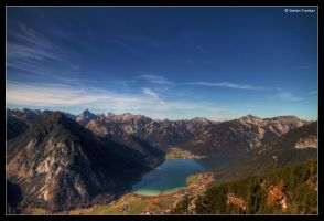 The Achensee below by stetre76