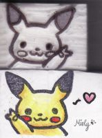 Pikachu Rubber Stamp by MistyTan