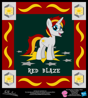 Red Blaze OC Collectible Card by StryKariSPEEDER