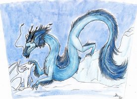 Icy Eastern Dragon by Aireane01
