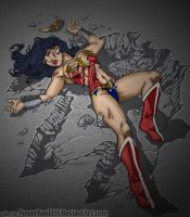 The Beast: Wonder Woman color by andrewr255