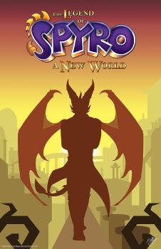 The Legend of Spyro: A New World Cover Page by TLOS-a-New-World