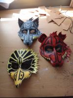 'Dreamcatcher' Animal spirit masks by Masktastic