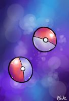 Pokeballs by Cellophane-Lithium