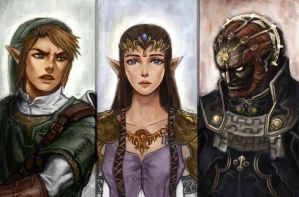 Zelda: Twilight Princess Portraits by thewordlesssignature