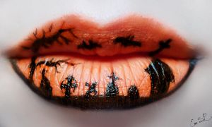 Cemetery Lip Art by Chuchy5