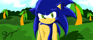 Sonic in Green Hill Zone by chi171812