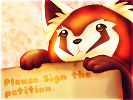 Pabu wants you to sign the Visual Arts Petition by Creativepup702