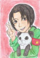 Smile with panda by Freddy-chan