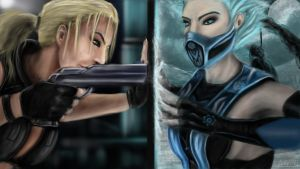 Sonya Blade and Frost by LetticiaMaer