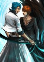Grimmjow Ichigo by rumbl3fishy