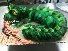 Dragon made out of cupcakes... by TheForest