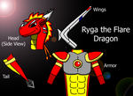 Ryga the Flare Dragon colored by benzene66